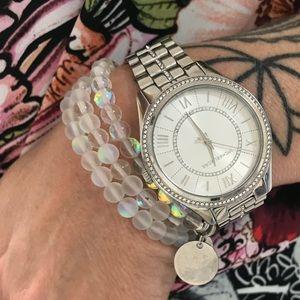 Jewelry - 🧜♀️ Mermaid Glass Bead Engraved Name Bracelet 💕